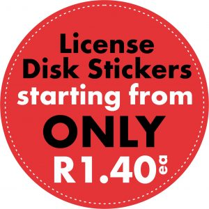 Custom Designed Promotional License Disc Stickers